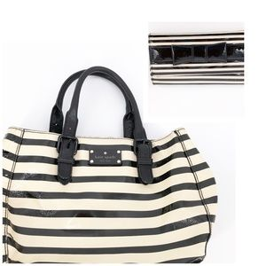 KATE SPADE Patent Leather Striped Handbag